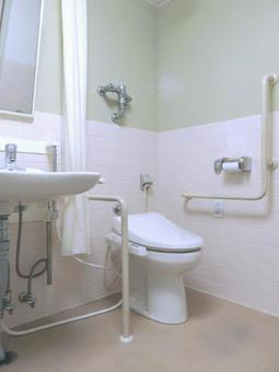 Nursing care welfare toilet washroom wheelchair