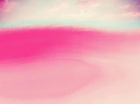 하늘의 가공 이상한 모양의 대기 빈 대기 환상적인 예술적 핑크 하늘색