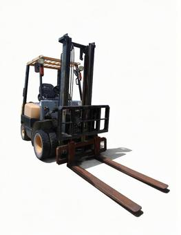 Old forklift (PSD / cutout)