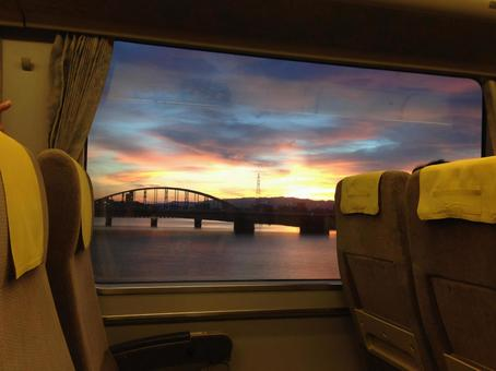 전철의 차내 일본