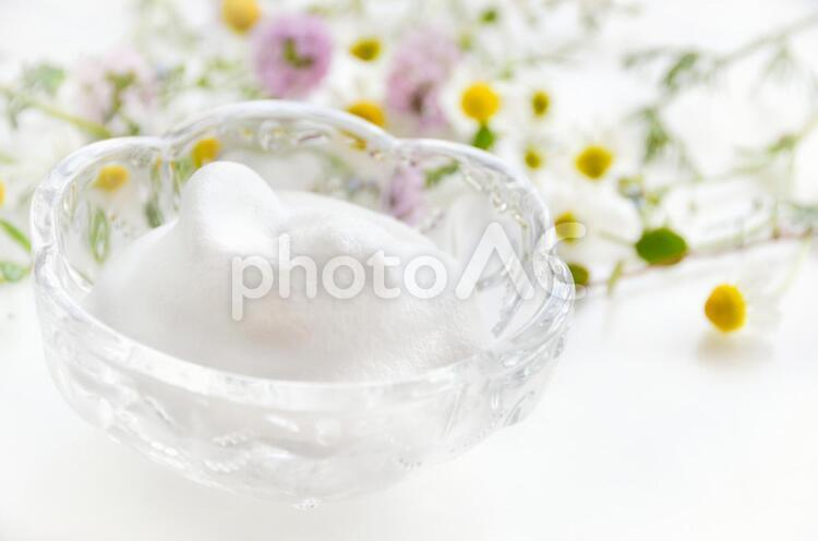 泡とハーブの写真