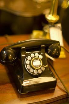 Antique black phone