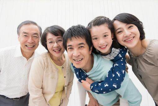 Caring close friend Three generations Family 1