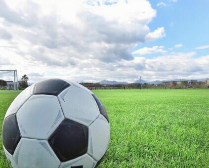 Soccer ball and sky