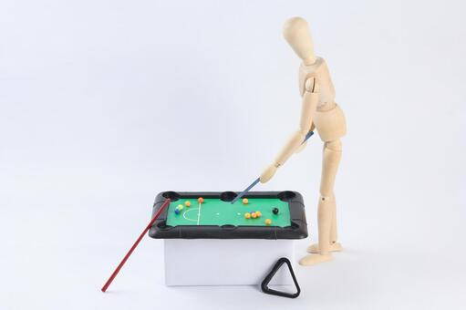 Drawing doll 7 playing billiards