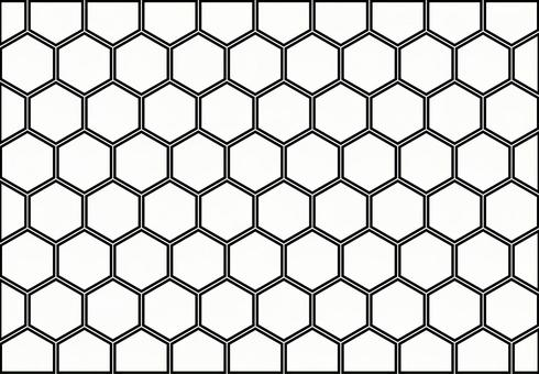 Black and white honeycomb structure image