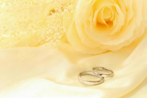 White rose and wedding ring