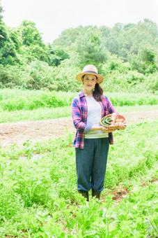 Female farmer in field 5