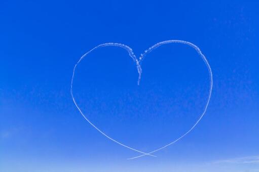 Blue Impulse Heart Shape