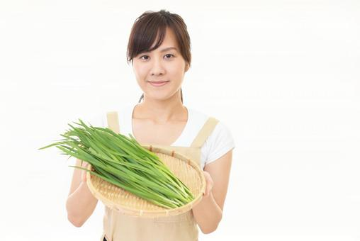Smile woman with vegetables