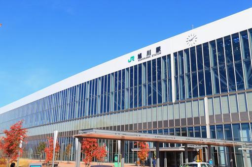 Asahikawa station south exit 2 in autumn 2