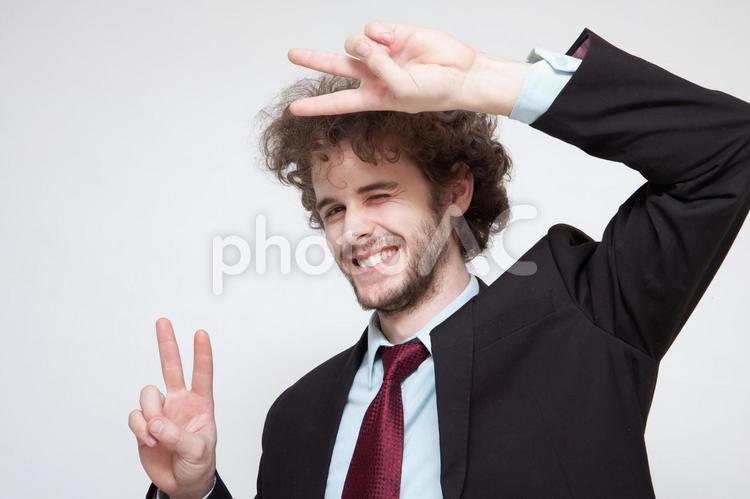 ハンサムな外国人ビジネスマン117の写真