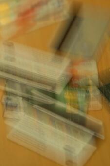 Blurred credit card