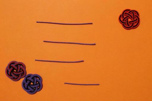 Mizuhiki frame Halloween color Background color Orange With loose borders