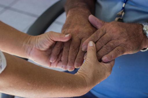 Elderly hands and supporting hands 13