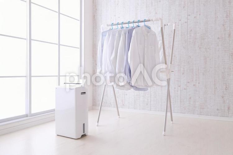 部屋干しの写真