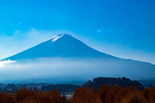Mt. Fuji in the blue sky