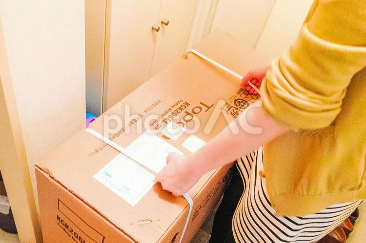 宅配便の荷受の写真