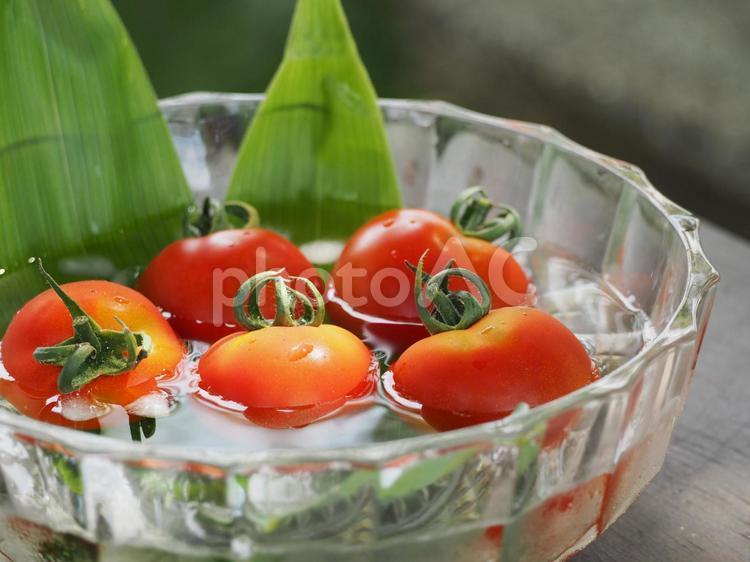 冷やしトマト 夏野菜の写真