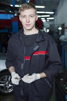 Automobile mechanic with tool 5