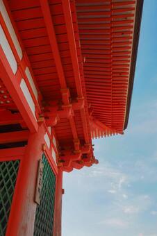 Kiyomizu Temple Ren Wang door