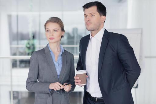 Businessman and business woman 11