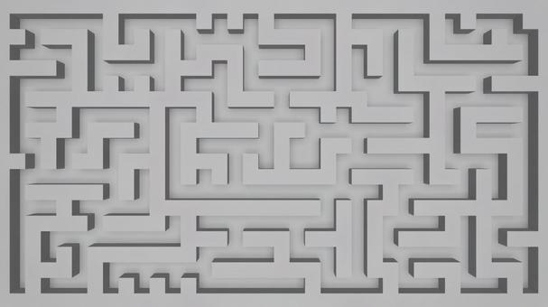 White wall maze