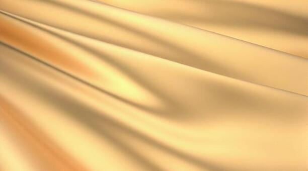 금색의 드레이프 배경의 3D 일러스트