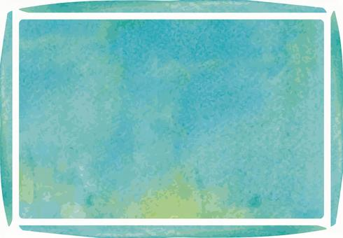 Watercolor painting Analogue handwriting frame frame decorative frame picture