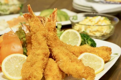 A big fried shrimp treat