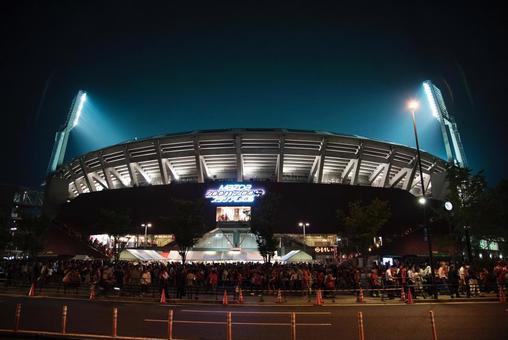 Hiroshima Mazda Stadium after baseball is over