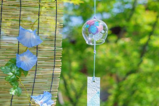 Garden wind chime blind morning glory