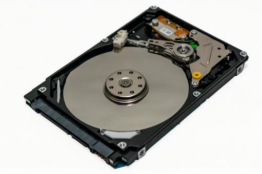 [Disassembled photo] Internal HDD (hard disk drive) White outline