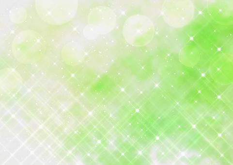 Cross filter style glitter and bokeh Watercolor style background material (green)