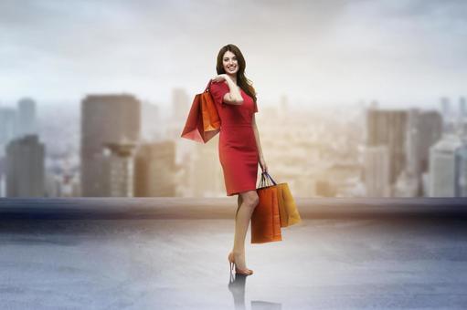 쇼핑을하는 여자 3