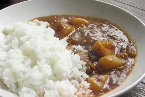 Curry rice handmade