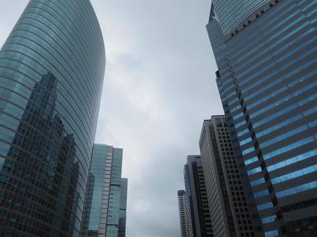 Rainy skyscrapers