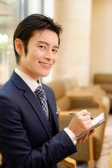 Hotel Man 9 with binder