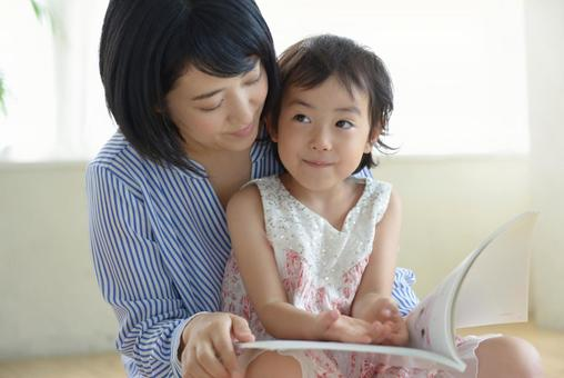 Mother and child reading 11
