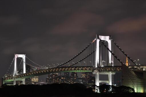 Night view Rainbow Bridge