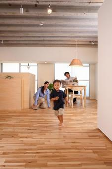 Child running in the room 6