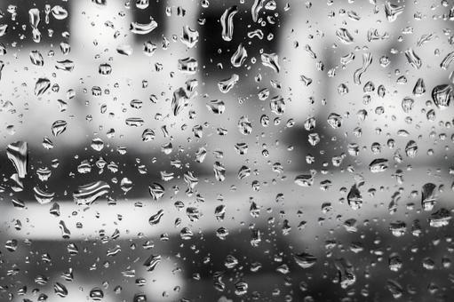 Window glass water drops rain