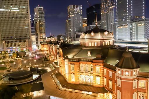 도쿄역의 야경