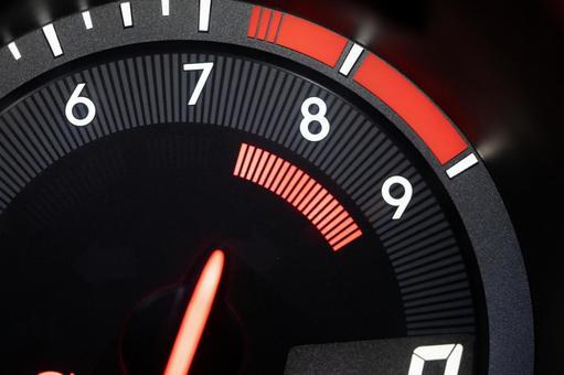 Sports car tachometer