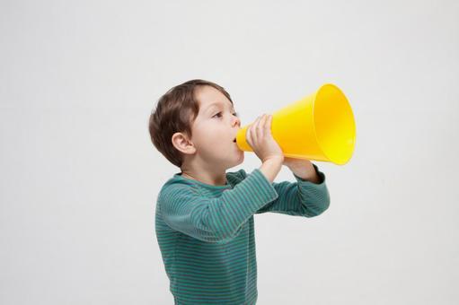 Boys with megaphone 3