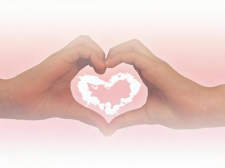 Heart cloud and heart hand