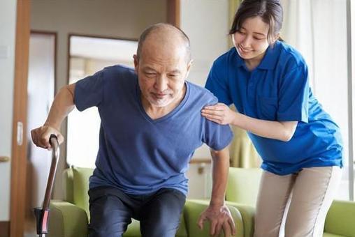 Caregiver assisting the elderly