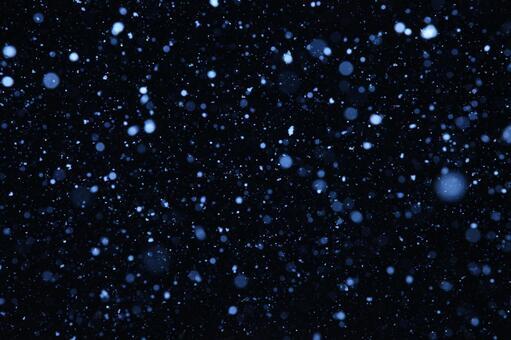 Snow fluttering night