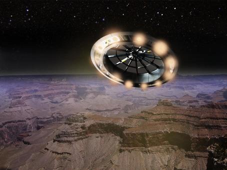 從不明飛行物看到的星球