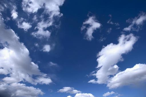 Blue sky and clouds 16